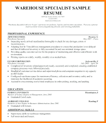 Logistics Associate Sample Resume Impressive Resume Examples Of Warehouse Assistant Manager Resumes Templates