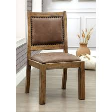 rustic upholstered dining chairs. Unique Upholstered Furniture Of America Matthias Industrial Rustic Pine Upholstered Dining  Chair Set 2 Intended Chairs Overstockca