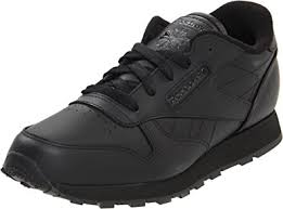 reebok shoes black classic. reebok classic leather shoe,black/black/black,2 m us infant shoes black e