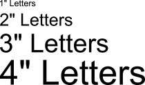 custom vinyl letters numbers