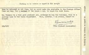 Resignation Memo Bbc Archive Guy Burgess At The Bbc Memo To The Director