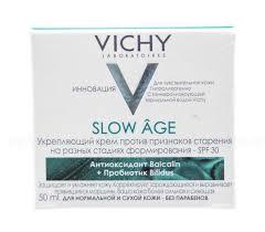 Vichy <b>слоу аж крем</b> пр/морщин 50мл укрепляющий spf-30 д/норм ...