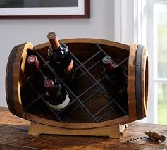 Image Wine Enthusiast Barrel Tabletop Wine Rack Pottery Barn Barrel Tabletop Wine Rack Pottery Barn