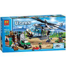 Đồ chơi Lego xếp hình lắp ráp bela urban 10423 - máy bay trực thăng tuân  tra