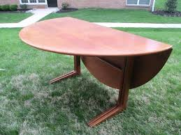 drop leaf table with chairs modern danish teak round drop leaf dining table for drop