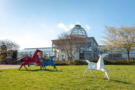 painted ponies from origami in the garden at lewis ginter botanical garden image by tom