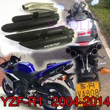 R1 <b>Motorcycle</b> TOCE <b>Exhaust Muffler Full Systems Pipe</b> For Yamaha ...