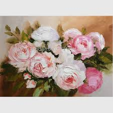 blossoming pink rose oil painting hand painted fl oil painting for wall decor
