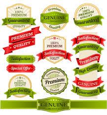 Label Design Free Exquisite Ribbon Label Design Vector Free Vector Graphic Download