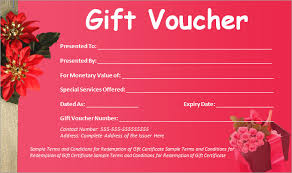 Free Gift Voucher Template For Word Gift Certificate Voucher Template Blank Voucher Template 31 Free