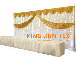 2019 Nice Looking Ice Silk Wedding Backdrop Curtain Stage Background With Led Light And The Pipe Stand From Kingxuntex 148 8 Dhgate Com