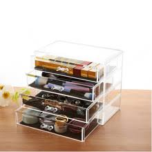 libeauty professional heavy duty clear acrylic storage box makeup organizer