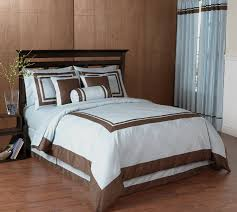 blue and chocolate hotel spa collection duvet cover 6 pc bedding set only 59 99