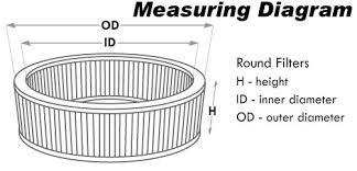 Round Universal Air Filters Airaid
