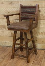 rustic bar stools. Creative Of Swivel Bar Stool With Arms Reclaimed Rustic Stools