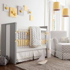 gray and yellow chevron crib bedding transitional nursery