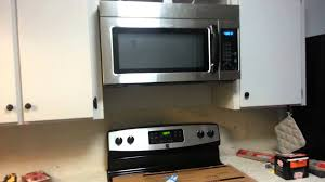 microwave oven installation. Beautiful Oven Installing An Over The Range Microwave Oven And Installation D