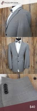 Tommy Hilfiger Sport Coat Mens 40r Wool Gray Good Used