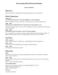 Accounting Clerk Resume Samples Letter Resume Directory