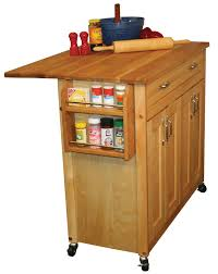 Catskill Mid-Sized Kitchen Island Cart w/ Drop Leaf