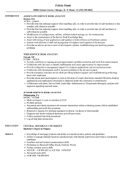 Desk Analyst Resume Samples Velvet Jobs