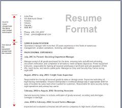 Formal Resume Template Printable Resume Format