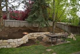 Small Picture Retaining Walls For Sloped Backyards sloped hill in our backyard
