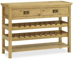wine rack table. Bentley Designs Provence Oak Console Table With Wine Rack A