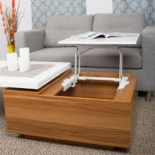 adele white lacquer high gloss walnut melamine veneer wood coffee table