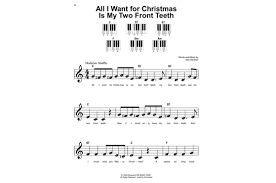 all i want for christmas is my two front teeth sheet music christmas songs super easy songbook heid music