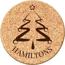 Custom cork coasters Wedding Favors Custommadecom Custom Goods Christmas Tree Round Cork Coaster Walmartcom