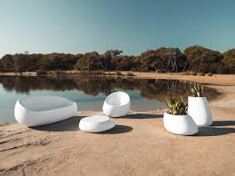 outdoor furniture white. White Outdoor Furniture Idea With Modern Sofa And Chair Completed Table Plants Decor Latest T