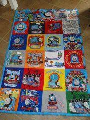 Thomas quilt | Thomas Ideas | Pinterest | Photos and Quilt & Thomas Quilt for Toddler's bed. Made of old t-shirts. Adamdwight.com