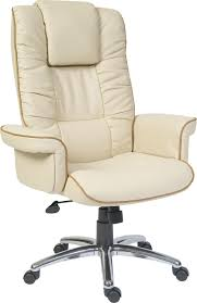luxury leather office chair. Windsor. Code: B9001C-LF2. Luxury Cream Bonded Leather Executive Armchair Office Chair C