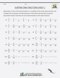 Addition Subtraction Multiplication Division Of Fractions ...