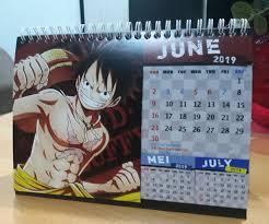 Sort alphabetically / sort by date. Jual Kalender Meja 2019 Anime One Piece Jakarta Utara Ficom Shop Tokopedia