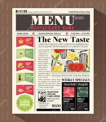 Restaurant Menu Book Design Pictures Newspaper Menu Restaurant Menu Design Template