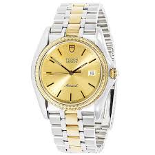 stylish steiner men s automatic mother of pearl date the most popular 18k yellow gold stainless steel pre owned tudor monarch 15633 mens