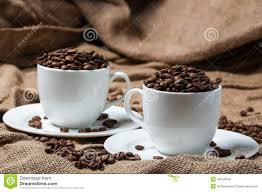 coffee cups with coffee beans. Fine Coffee Download Two Coffee Cups With Beans Stock Photo  Image Of Anise  Caffeine Beans O