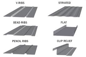 striations also called stiffening ribs or rib rollers are the patterns rollformed into a metal roofing panel between the seams