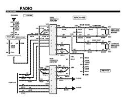 schematic of 99 mustang mach 460 rear subwoofer amplifier and schematic of 99 mustang mach 460 rear subwoofer amplifier and front subwoofer speaker of radio installation diagram