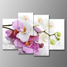sureart framed canvas painting modern wall art home deco white orchid photo panels  on white orchid framed wall art with shop for sureart framed canvas painting modern wall art home deco