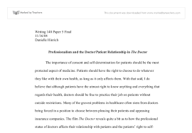 professionalism and the doctor patient relationship in the doctor document image preview