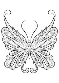 Kids Coloring Pages Adult Butterfly Coloring Book Coloring Page