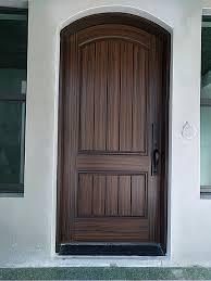 painting new entry door to look like wood