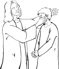 printable picture of jesus. Contemporary Printable Jesus Put His Fingers Into The Deaf Manu0027s Ears Coloring Page Throughout Printable Picture Of U