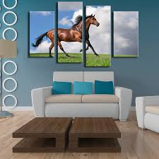 Small Picture 4 Pieces horse art large picture frames Wall painting print on