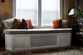 Window Seat Living Room Interior Living Room Amazing White Custom Wooden Bay Window Seat