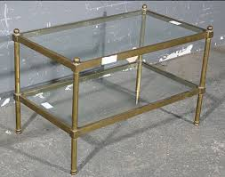 brass and glass coffee table. RARE BAGUES TUBULAR BRASS GLASS COFFEE TABLE SIZE For Sale | Antiques.com Classifieds Brass And Glass Coffee Table