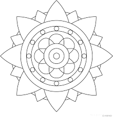 Small Picture Simple Mandala Coloring Page Coloring Home